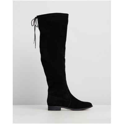 Atmos&Here Womens Karli Leather Boots Black Suede Or Sale Near Me CXUXPLL