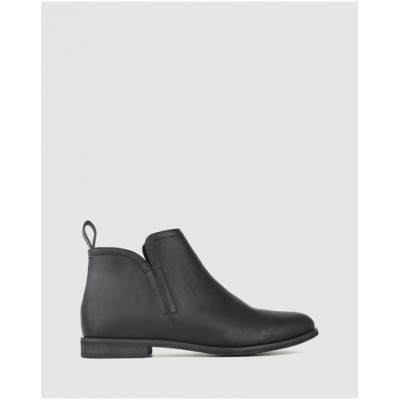Betts Womens Excite Flat Ankle Boots Black Hot NKPZUPD