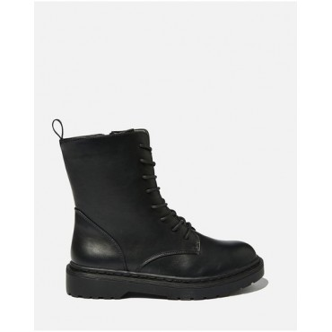 Rubi Women's Freda Combat Lace-Up Boots - Teens Black Smooth hot topic ASIEKUO