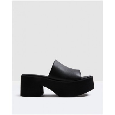 Alice In The Eve Womens Penny Platform Mules BLACK boutique TZXOMUO