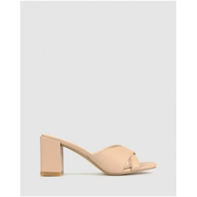 Betts Womens Lillydale Block Heel Mules Nude quality SYVHWLI