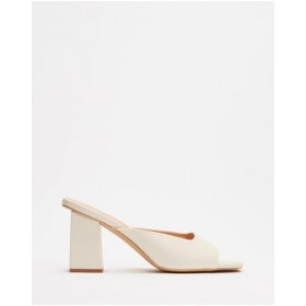Dazie Womens Francis Heels Off White Smooth UMPSOCE