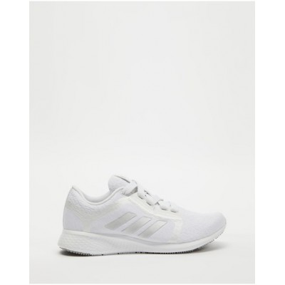 adidas Performance Women's Edge Lux 4 - Women's Running Shoes Cloud White Metallic Silver & Grey Two Fitted LSABQMI