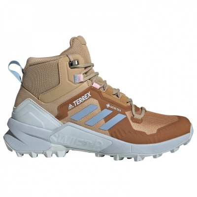 adidas Women's Terrex Swift R3 Mid GTX - Walking boots Beige Tone / Ambient Sky / Halo Blue Womne's - Outdoor shoes outlet EFCDZQG