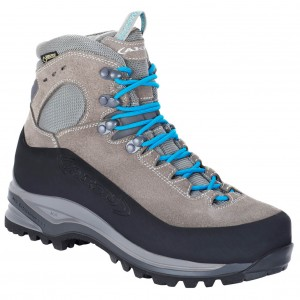 AKU Women's Superalp GTX - Mountaineering boots Light Grey \/ Turquoise Women - Outdoor shoes Business Casual FIHCYTF