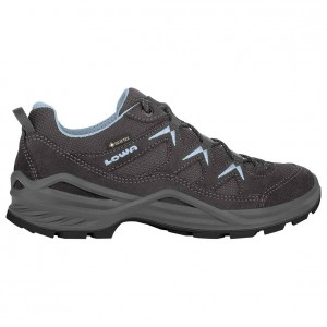 Lowa Women's Sirkos Evo GTX LO - Multisport shoes Anthrazit \/ Beere Women - Outdoor shoes outfits PVHPRHM