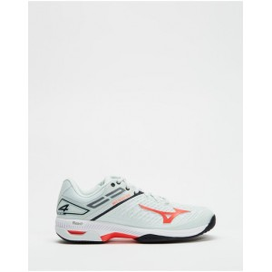 Mizuno Women's Wave Exceed Tour 4 AC - Women's Blue & Red Fit EHKTWVV