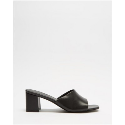 Atmos&Here Womens Tina Leather Heels Black Leather lifestyle WNLLTHK