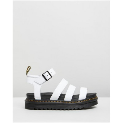 Dr Martens Womens Blaire Hydro Sandals White Recommendations OBGZRZV
