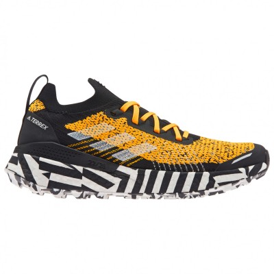 adidas Women's Terrex Two Ultra Parley - Trail running shoes Core Black / FTW Wight / Solar Yellow Womne's - Outdoor shoes 2021 Trends QTWTKBT