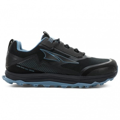 Altra Women's Lone Peak All-Wthr Low - Trail running shoes Black / Blue Women - Outdoor shoes comfortable ODLXIQU