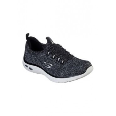 Skechers Empire D'Lux Sharp Witted Sneakers BKW-BLACK/ - Women Performance Shoes - Designer UDSQ905
