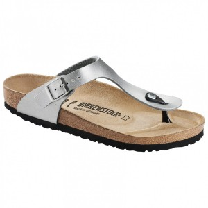 Birkenstock Women's Gizeh BF 9 - Sandals Silver Womne's - Outdoor shoes outfits PKQSDBD