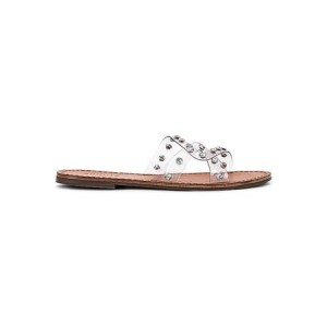 Women's Schutz Cathryn Slide in White. Leather size 3 Lowest Price DKNP605