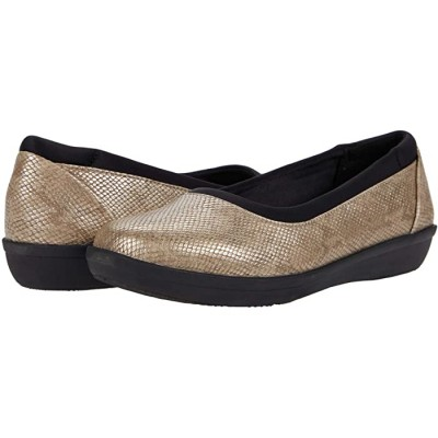 Woman's Clarks Ayla Low Taupe Snake Print Synthetic 9075163 TUYZO669