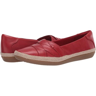 Woman's Clarks Danelly Shine Red Leather 9337809 BEEBS524