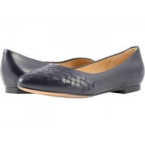 Womens Trotters Estee Woven Navy Woven Leather 8900653 PGJXH365