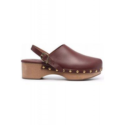 Women Ancient Greek Sandals Classic Closed 70mm studded clogs Brown Rubber 2021 Trends SESQ1481