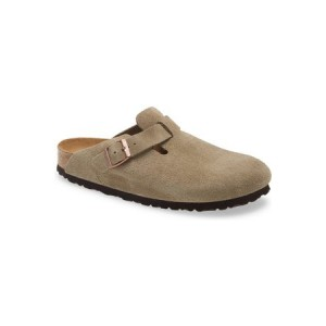 Womens Birkenstock Women's Boston Soft Footbed Clog Brown size 12 Clearance Sale KYTW1944