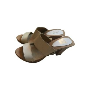 Womens Fifi Chachnil Leather mules & clogs Beige Leather comfortable IGWO7383