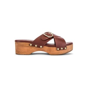 Young Women's Ancient Greek Sandals Marilisa Clog in Cognac. Brown Gold size 13 For Sale VYDH3720