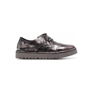 Women MARSÈLL Metallic-effect leather brogues Silver Leather size 6.5 The Most Popular REBQ165