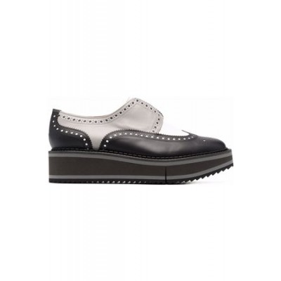Women Robert Clergerie Brogue-detailed platform loafers Black Leather size 5 DVHY1947