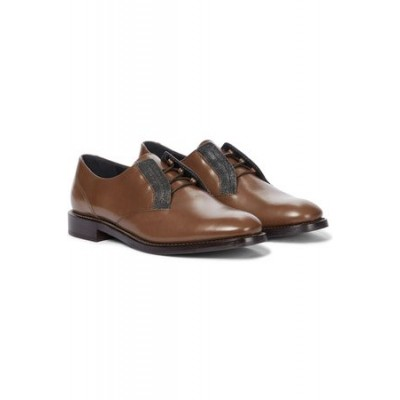 Women's Brunello Cucinelli Leather brogues Brown Leather size 13 Online Wholesale ICNB9924