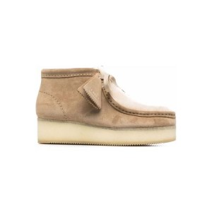 Women's Clarks Wallabee Leather Laced Shoes Suede New Style PIER9855