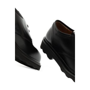 Women's Marni Square-toe Derby shoes Black Leather Discount KLFR7455