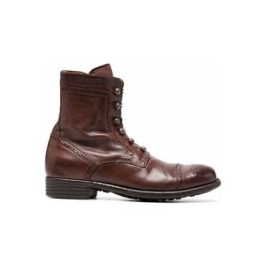 Women's Officine creative Brogue-detailing leather boots Brown Leather outlet PLZV3909