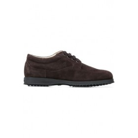 Women Hogan Traditional derby shoes Brown Leather SXIQ2427