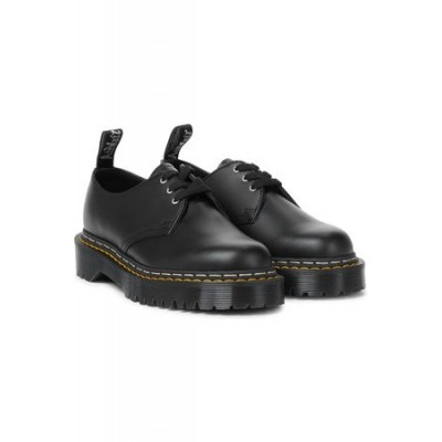 Women Rick Owens X Doc Marten Bex leather Derby shoes Black Leather outfits TCSW9476