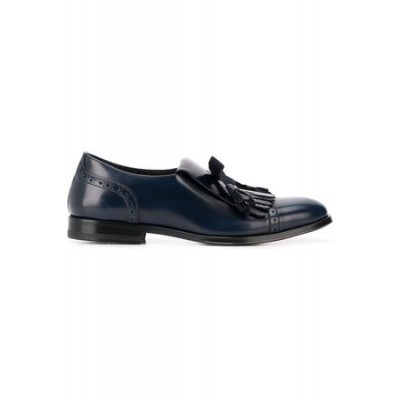 Women Scarosso Lucy monk shoes Blue Leather Latest Fashion THJT3927
