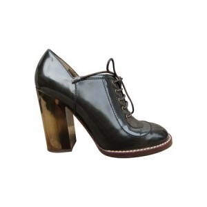 Women's Dolce & Gabbana Patent leather derby shoes Green Leather Wide Business Casual PEKC3546