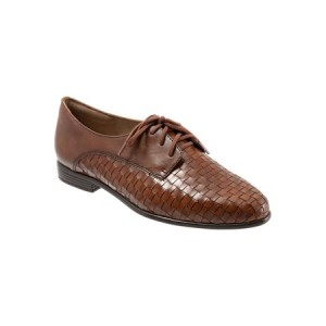 Womens FrenchTrotters Women's Lizzie Derby Flat Brown Cut Off NXFS2913