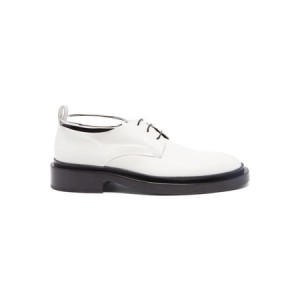 Women's Jil Sander Anklet Leather Derby Shoes - Womens White Leather in new look SBSC4150