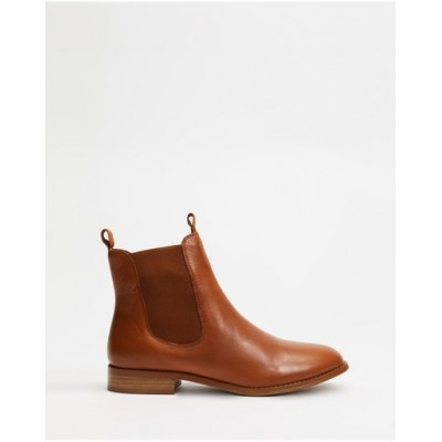 Atmos&Here Women Georgia Leather Ankle Boots Tan Leather Lowest Price MKLHXDI