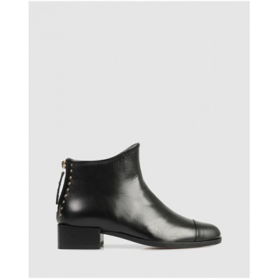 Beau Coops Women's Beau5 Square Ankle Boots Nero Or Sale Near Me SMKCQPT