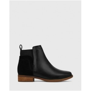 Wittner Women's Conagh Leather And Suede Ankle Boots Black on clearance LJHJSTU