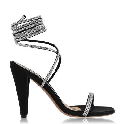 Women ALEXANDRE VAUTHIER Amina Ankle Tied Sandals Black business casual FF2AE4030