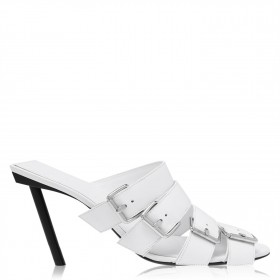 Women BALENCIAGA Buckle Sandals White 9081 Number 1 Selling CE5CU7934
