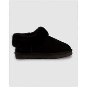 AusWooli Ugg Boots Womens Coogee Sheepskin Wool Ankle Slippers Black sale online KWEUFPO