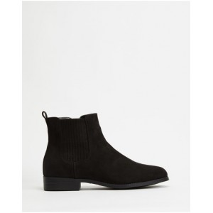 SPURR Women Hayes Ankle Boots Black Microsuede In Sale CSHANMP