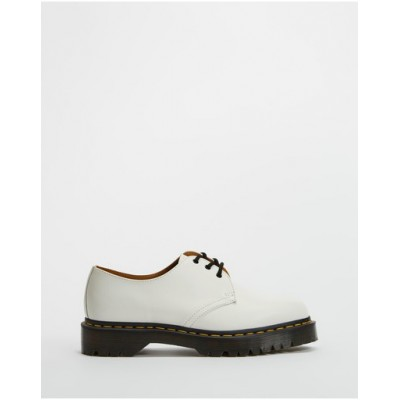 Dr Martens Women's 1461 Bex 3-Eye Shoes - Unisex White Smooth Hot Sale UQDCPHJ