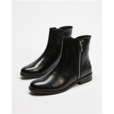 Atmos&Here Women's Tess Leather Ankle Boots Black Leather IMPDNAG