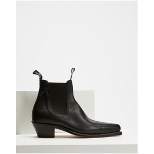 R.M.Williams Women's Womens Millicent Boots Black Yearling New Arrival DSCYOEH