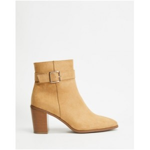 SPURR Womens April Ankle Boots Taupe Microsuede cool designs BVLAGRS