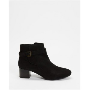 Atmos&Here Women Sandra Leather Ankle Boots Black Suede New Style MHNCQIA