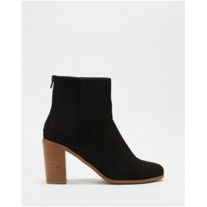 SPURR Women Milly Ankle Boots Black Microsuede DOEAFUZ